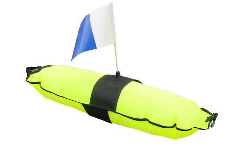 Inflatable Float With Flag and Weight