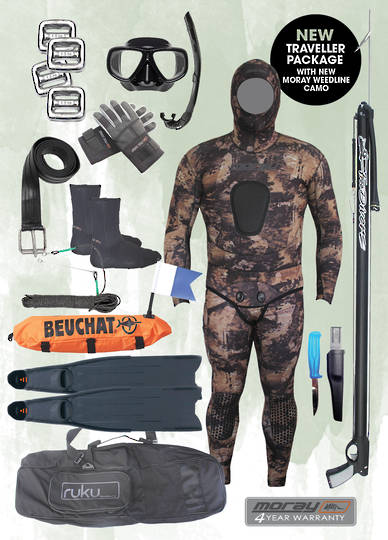 Traveller Spearfishing Package | Weedline Camo