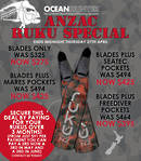 RUKU ANZAC SPECIAL - BLADES ONLY